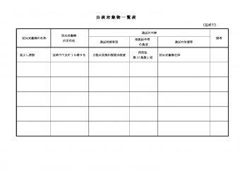 公表対象物一覧表(韮崎市)のサムネイル
